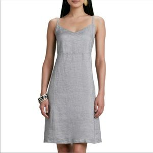 Eileen Fisher metallic linen dress